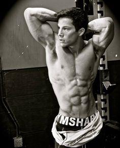 Christian Guzman modeling for Gymshark.