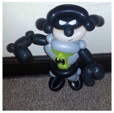 Batman balloon sculpture #batman #superhero  #balloon #sculpture #twist #art #character