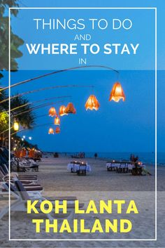 Things to do in Koh Lanta, Thailand