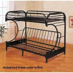 Yuan Tai Furniture C Shape Red Futon Bunkbed By 274 89