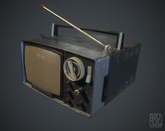SONY portable TV 5-303 (1967), Moto Nakamura on ArtStation at https://www.artstation.com/artwork/8DPlx