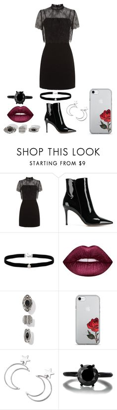 """The Fault In Our Stars (MMXIV)"" by listeningforsilence ❤ liked on Polyvore featuring Sandro, Gianvito Rossi, Amanda Rose Collection, Lime Crime and Ana Accessories"