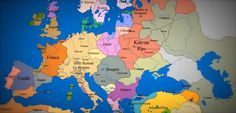 A changing map with changing borders, from 1000 AD till now