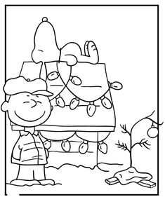 charlie brown christmas coloring pages - photo#22