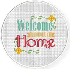 FREE for Aug 6th 2014 Only - Welcome to our Home Cross Stitch Pattern