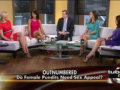 Fox News owns the shapely leg battle. Aim high, Fox.