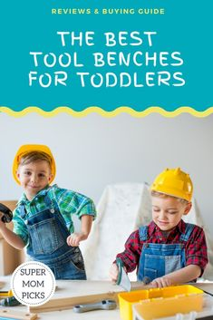 We reviewed the best tool benches for toddlers.  See which ones will keep your kids entertained and learning for hours on end. #supermompicks #momlife #christmasgifts #christmasideas #toddlers #toolbenches #toddlers #playtime