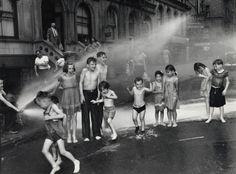 SUMMER, THE LOWER EAST SIDE, 1937 BY ARTHUR FELIG, AKA WEEGEE  #SUMMER #PHOTOGRAPHY #KIDS #ARTHUR_FELIG