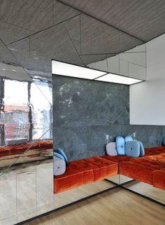 40 Fantastic Futuristic Furniture For Minimalist Design Ideas Penthouse Apartment, Apartment Interior, Apartment Design, Interior Exterior, Interior Architecture, Minimalist Architecture, Family Room Design, Design Room, Wall Design