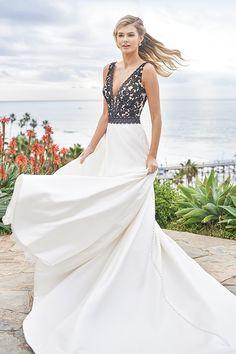 Jasmine - F211053 | Suzanne's Bridal Boutique Ankle Length Wedding Dress, Plus Size Wedding Dresses With Sleeves, Plus Wedding Dresses, Backless Lace Wedding Dress, Fit And Flare Wedding Dress, Wedding Dress Sleeves, Wedding Gowns, Jasmine Bridal, A Line Gown