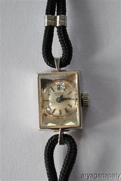 Antique Universal Geneve Swiss Ladies Watch 14K White Gold
