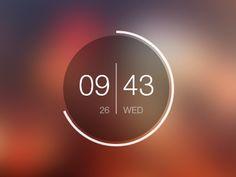 Android clock widget - clean design