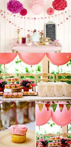 Para preparar una fiesta en casa o en el jardín, sólo hay que tener ganas y un poco de inspiración!