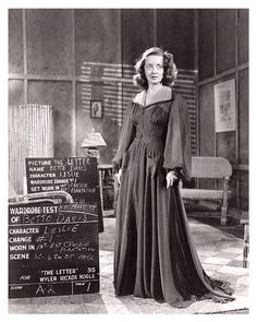 Bette Davis costume and hair test