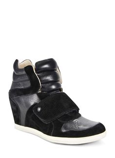 Love these velcro sneaker wedges by Koolaburra