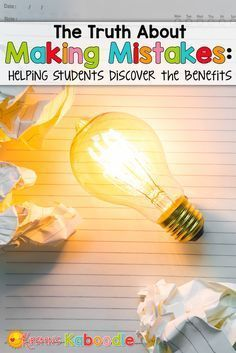 Are you interested in teaching your students about growth mindset and the benefits of making mistakes? Do you have students who experience anxiety and stress in the face of failure? Here are some tips to help your students understand the benefits of mak Social Emotional Learning, Social Skills, Student Teaching, Teaching Tips, Planning School, Growth Mindset Activities, Understanding Anxiety, Classroom Community, Teacher Hacks