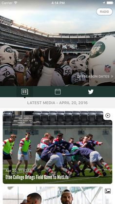 Connect with the NY Jets like never before with The Official NY JETS Mobile App.The app will be your source for all the latest news, live game scores, schedule, photos and other official content