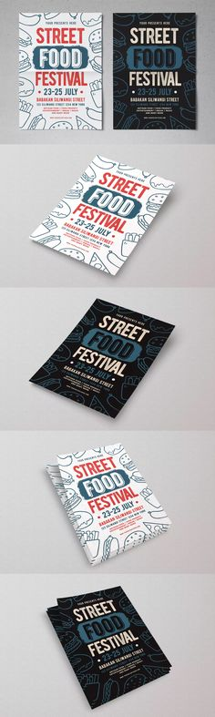 Street Food Festival Flyer Template PSD