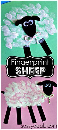 Fingerprint Sheep Craft for Kids #DIY   http://www.sassydealz.com/2014/03/fingerprint-sheep-craft-kids.html