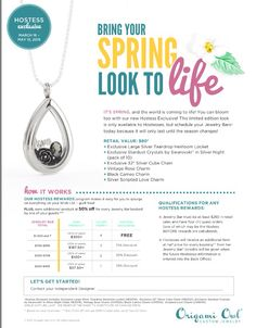 """Origami Owl March-May Hostess Exclusive. Teardrop Heritage Locket + 32"""" chain. Vintage charms and Swarovski crystal stardust. Absolutely stunning! https://erinsittner.origamiowl.com"""