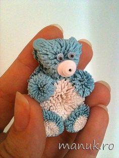 Quilled Teddy Bear - bjl