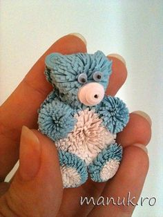 quilling | Quilled Teddy Bear - Quilled Creations Quilling Gallery