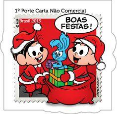 Emissã comemorativa – Natal, festa do amor e da fraternidade Artista: Maurício de Sousa Data: 2 de Dezembro de 2013
