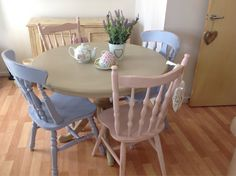 Shabby Chic Table & Four Chairs on Etsy, £250.00