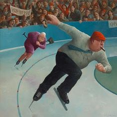 Marius van Dokkum, Dutch Artist and Illustrator Illustrations, Illustration Art, Dutch Painters, Dutch Artists, Naive Art, Sports Art, Sports Humor, Whimsical Art, Pablo Picasso