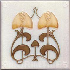 Art Nouveau stylized Ceramic Tiles ref An97