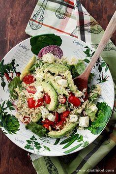 {Southwest/Mexico} Avocado and Feta Cheese Orzo Salad | www.diethood.com