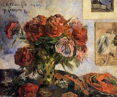 Paul Gauguin >> Vase of Peonies