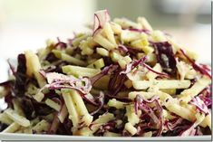 Crunchy Red Cabbage and Green Apple Sesame Slaw. Use honey for SCD to replace maple syrup
