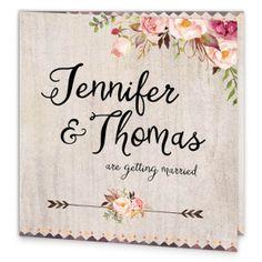 Flowering Affection Folding wedding Invite front
