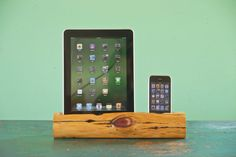 iPhone 5 & iPad docking station by woodtec.......