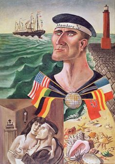 Otto Dix - The Goodbye to Hamburg - 1921