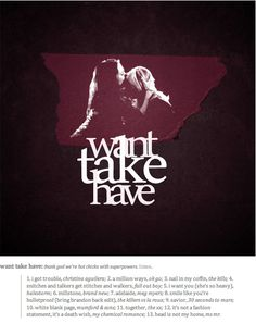 Want Take Have - Inspired by Faith x Buffy ( Buffy the Vampire Slayer )