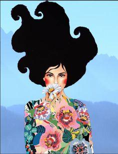 Papaya Art, Arte Country, Fantasy Paintings, Art Mural, Matisse, Portrait Art, Watercolor Illustration, Beautiful Paintings, Illustrations