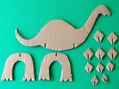 cardboard crafts for toddlers Vorlagen basteln Craft Activities, Preschool Crafts, Diy And Crafts, Crafts For Kids, Vocabulary Activities, Children Crafts, Dinosaur Crafts, Dinosaur Art, Cardboard Crafts
