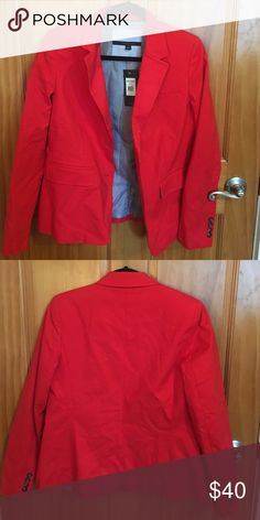 Tommy Hilfiger Blazer Brand new. Tags still on-  notch collar blazer. Red. Tommy Hilfiger Jackets & Coats Blazers