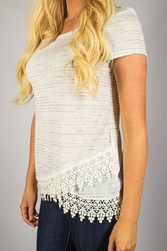 Spring Lace Detail Tees! Only $19.99 (Orig. $42) For a limited time!