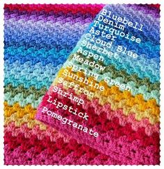 as much as i love color, this is why i haven't started a granny stripe blanket. i get so bogged down with color options. this helps -- Annie's Place: Granny Stripe Colour Sequence