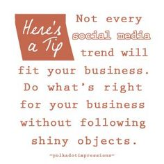 Not every social media trend will fit your business. Social Media Trends, Social Media Marketing, Polka Dots, Math, Business, Fitness, Math Resources, Store, Polka Dot