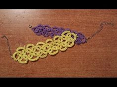 ▶ Braccialetto chiacchierino ad ago - tutorial - YouTube