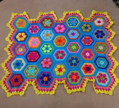 African flower baby blanket by THEDIVINELILY on Etsy