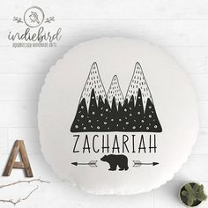 Personalised mountain cushion Personalised Cushions, Personalised Gifts, Handmade Gifts, Unique Gifts, Mountain, Unique Jewelry, Etsy, Vintage, Home Decor