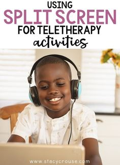Are you an SLP desperately trying to figure out how to share two activities at once in you teletherapy sessions? Maybe an activity AND a video? A book AND a book companion? Articulation cards AND a game? It's totally possible and super easy! Learn how to split your screen to share with your students, plus get inspired with tons of split screen activity ideas for teletherapy! Speech Therapy Organization, How To Split, Speech Pathology, Speech Therapy Activities, Working With Children, Activity Ideas, Speech And Language, Teacher Resources, Spotlight