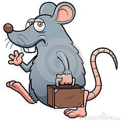 Cartoon rat get out