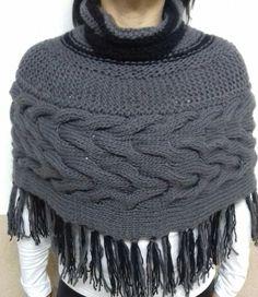 Poncho em lã