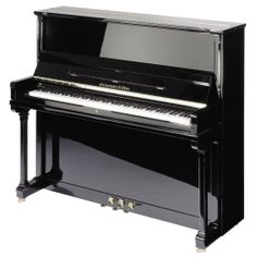 """With Steingraeber's most successful upright, Model 130, you are in fact buying a high quality 5'3"""" baby grand. This is due to the good string length and generous area of soundboard afforded by the cabinet's 130cm/4'3"""" height. It is often chosen by private buyers and music conservatories alike over factory-produced baby grands because it is technically their equal and has superior flexibility of sound.  #MakinPianos"""